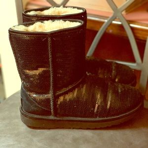 UGGs black glitter boots